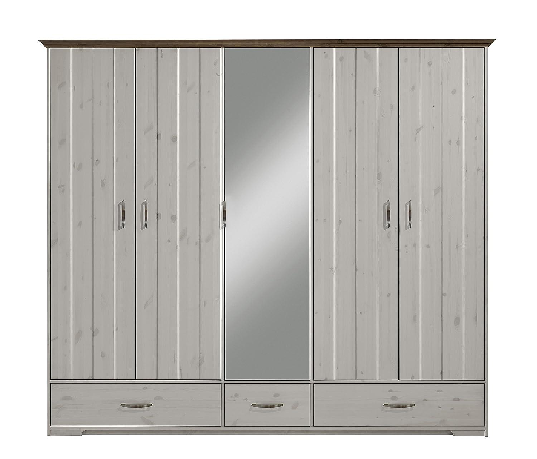 Schlafzimmerschrank weiß landhausstil  Steens 3651150269000F Hanstholm Kleiderschrank, 238 x 206 x 61 cm ...