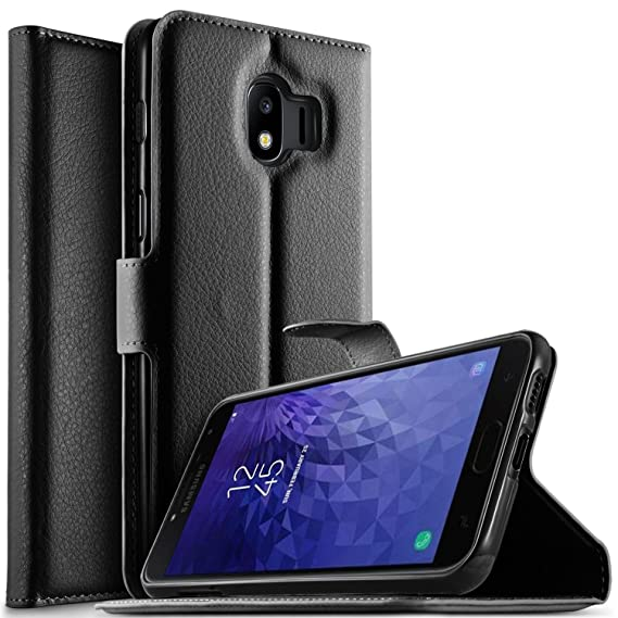 best loved 92555 ef045 Samsung Galaxy J4 2018 case, KuGi Premium PU Leather Wallet Case, [Card  Holder][Drop Proof] Flip Folio Protective Phone Cover for Samsung Galaxy J4  ...
