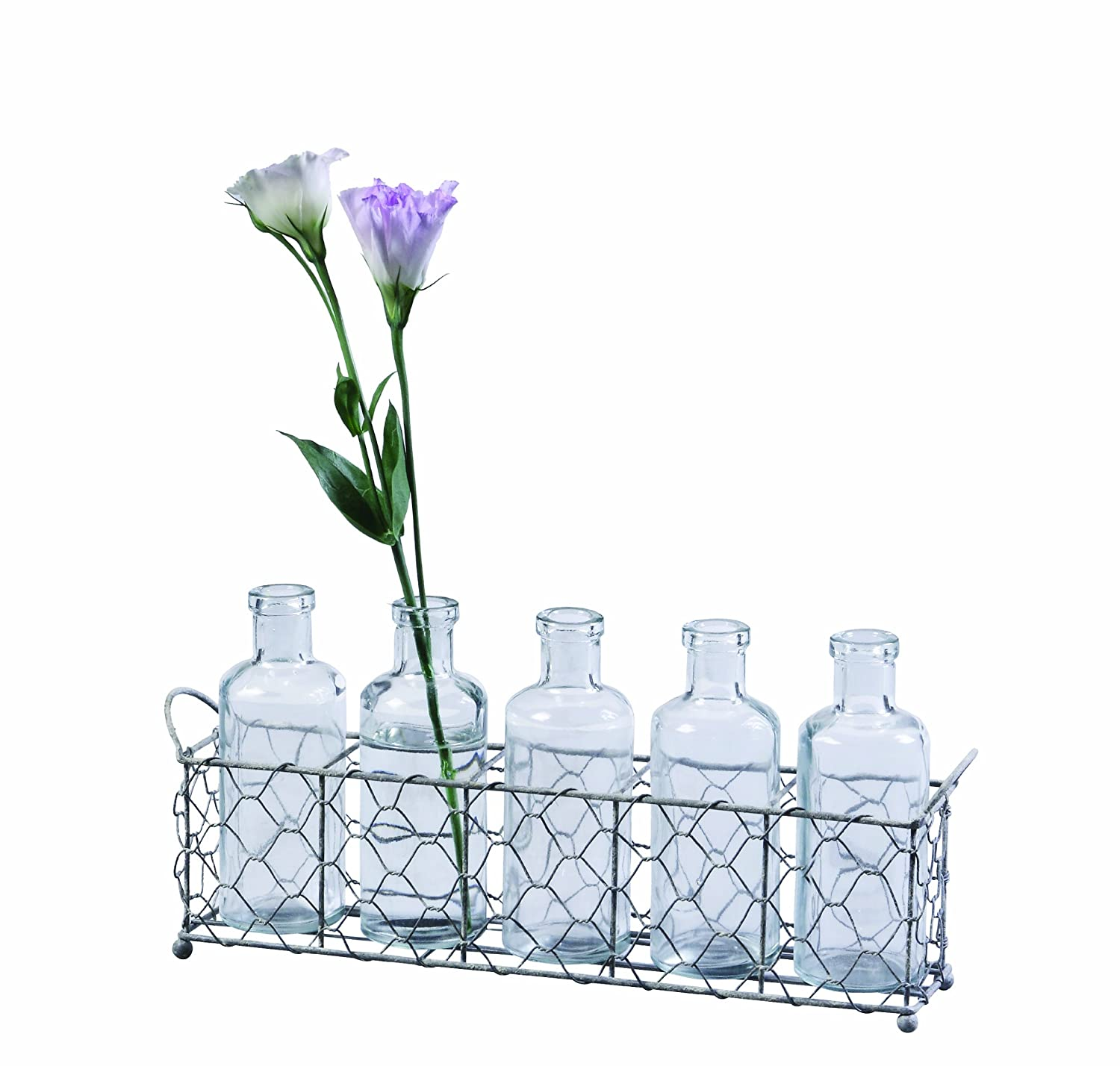 Amazon.com: Creative Co-op Farm Life 12.75-Inch Wire Holder with 5 ...