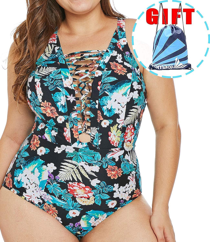 Garlagy 2019 Women's One Piece Swimsuits Plus Size Monokinis Swimwear  Athletic Tankini Bathing Suit Bikini