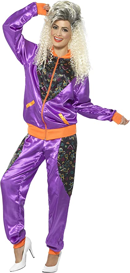 80s Costumes, Outfit Ideas- Girls and Guys Smiffys Retro Shell Suit Costume Ladies £18.48 AT vintagedancer.com