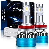 Combriller H11 LED Headlight Bulbs 6500K Xenon White, Canbus H11/H9/H8 Led Headlight Bulbs 16000LM Per Set with Cooling Silen