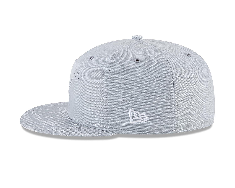 cbaaa0d0e5e Amazon.com   New Era Oklahoma City Thunder 2018 NBA All Star Game Rubber  Logo Fitted Gray Hat   Sports   Outdoors