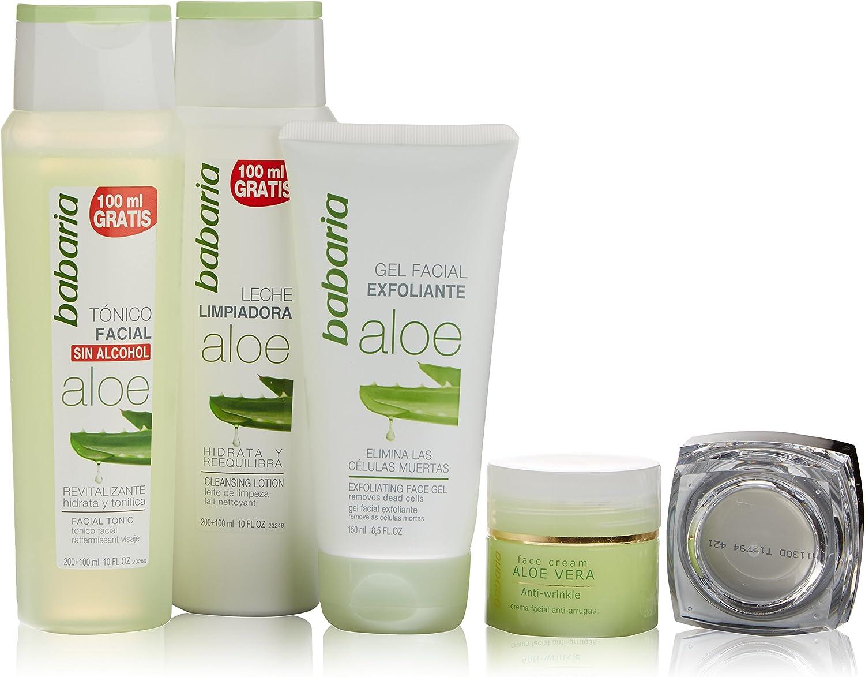 Babaria Aloe Vera Cuidado Facial Lote 4 Pz 1 Unidad 500 g: Amazon ...