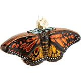 Old World Christmas Monarch Butterfly Glass Blown Ornament