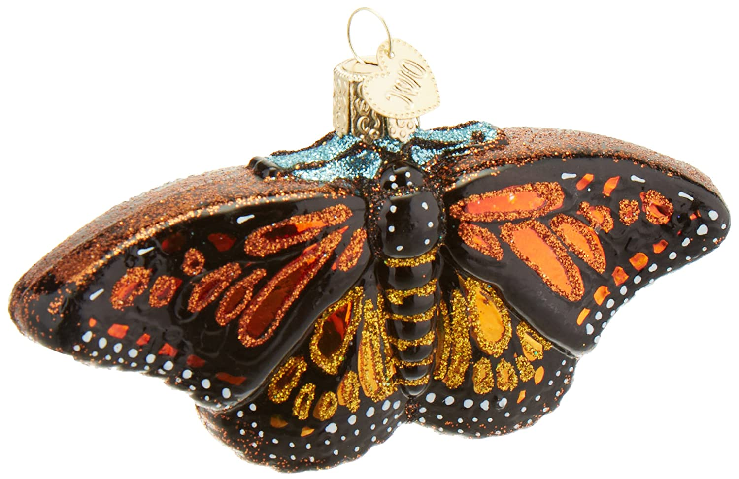 Old World Christmas Ornaments: Monarch Butterfly Glass Blown Ornaments for Christmas Tree 12475