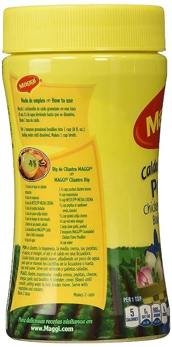 MAGGI Bouillon, granulado de pollo, 7,9 onzas (paquete de 6): Amazon.es: Alimentación y bebidas
