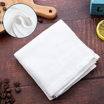 Boao 2 Packs Muselina Suave Cuadrada Tela de Algodón Puro, Adecuado para Filtro de Fruta, Leche en Hogar (Tamaño A, 50 x 50 cm): Amazon.es: Hogar