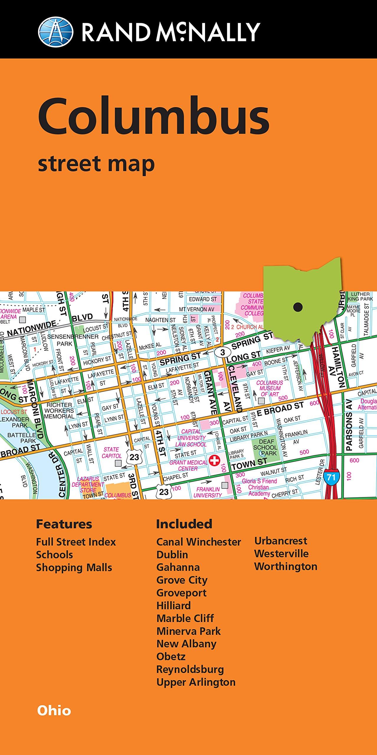Rand Mcnally Folded Map Columbus Street Map Rand Mcnally
