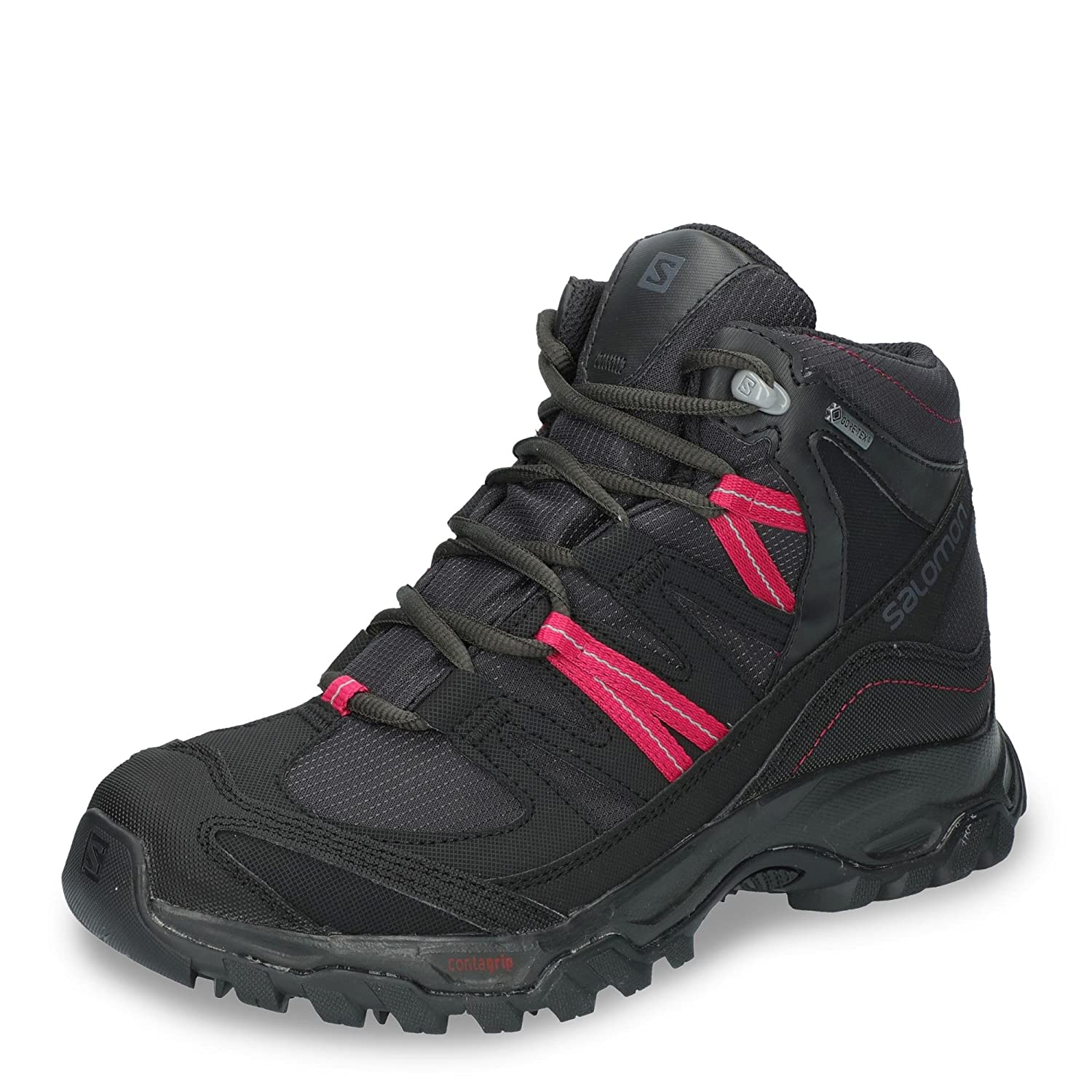 noir& 47;Sangria 6.5 UK Salomon Shindo Mid GTX W