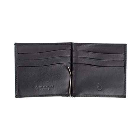 004ede1264 Portafoglio con fermasoldi da uomo in vera pelle portamonete e carte di  credito DV Nero