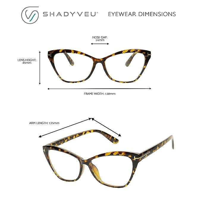 935f4a207b Amazon.com  ShadyVEU - Women s Sophisticated Cat Eye Sexy Sleek Clear Lens  Rx Prescription Frame Eye Glasses (Black Frame