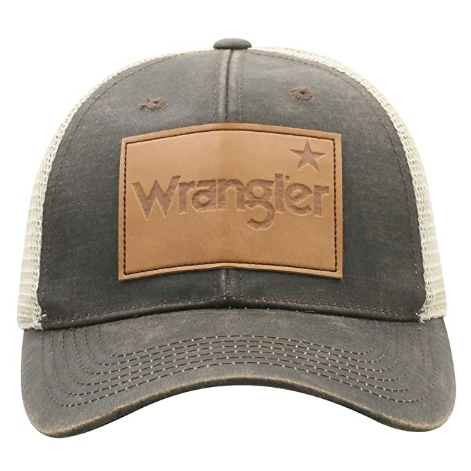 Image Unavailable. Image not available for. Color  Wrangler Men s  Distressed Dirty Wash Mesh Back Trucker Cap 0281ed259a9e