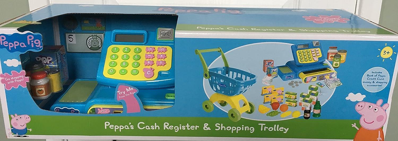 Peppa Pig Carro de registro de efectivo y compras: Amazon.es: Juguetes y juegos
