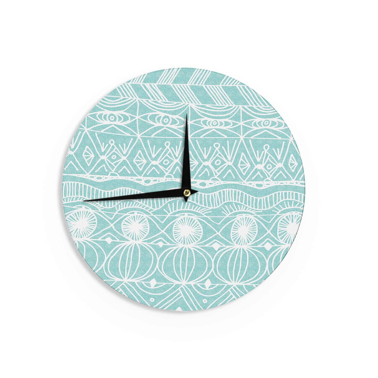 KESS InHouse Catherine Holcombe ''Beach Blanket Bingo'' Wall Clock, 12'' by Kess InHouse