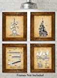 Amazon Price History for:Original Disney Rides Patent Art Prints - Set of Four Photos (8x10) Unframed - Great Gift for Disney Fans