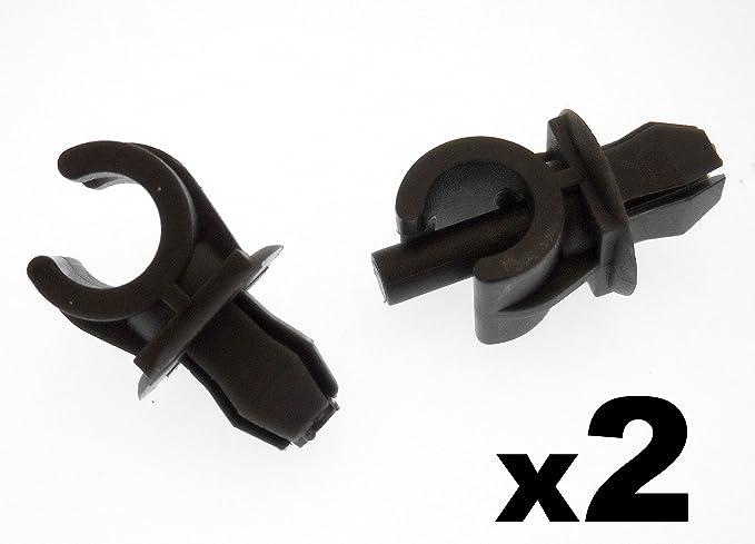 Halteklammer Für Motorhaubenstange Kunststoff P N 1h0823397 357823397 Schwarz 2 Stück Auto