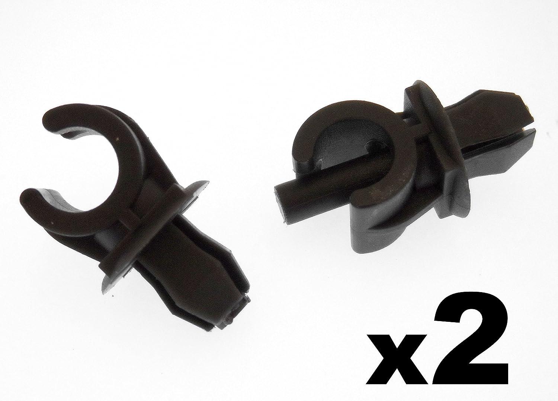 Agrafes Pour Vehicules - Plastique Noir Capot Sé jour Fixation Clips- Clips Pour Hold Support Rod (1H0823397 357823397) Equilance