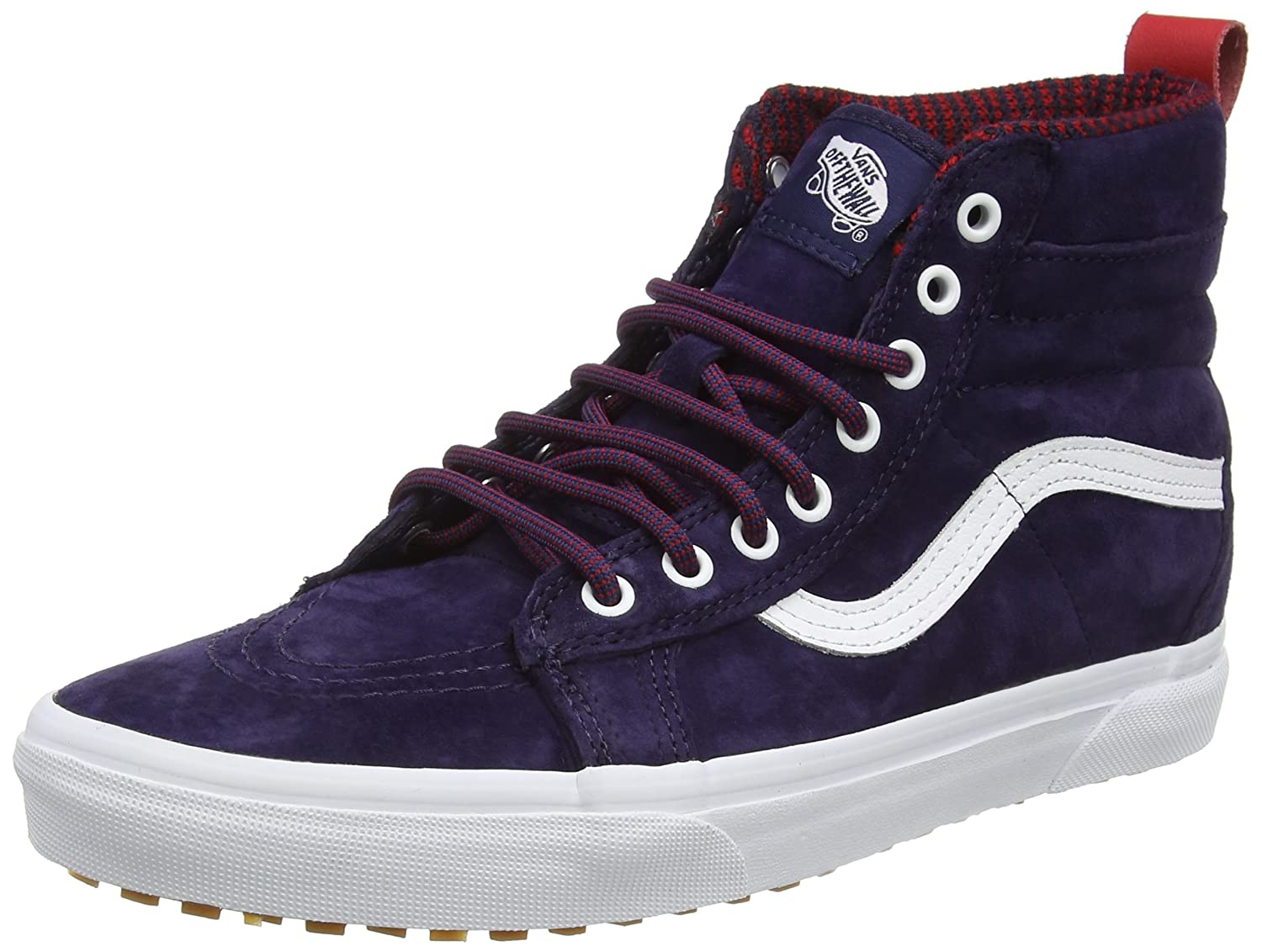 Vans Sk8-Hi MTE, Zapatillas Altas Unisex Adulto 34.5 EU|Azul (Mte Evening Blue/True White)