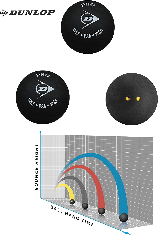 Tous Les Types incluent Pack de vari/ét/és Paquet de 3 Sportsends Dunlop Balles de Squash