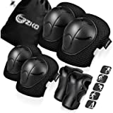 Kids/Teenager Protective Gear, Knee Pads and Elbow Pads 6 in 1 Set with Wrist Guard and Adjustable Strap for…