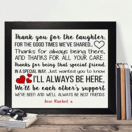 Personalised Presents Gifts For Best Friends Bridesmaid Colleague Co Workers Farewell Leaving Wedding Day Birthday Christmas