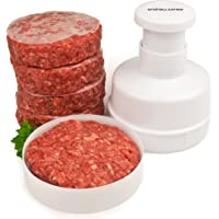 Andrew James Homemade Beefburger Press | Beef Burger Maker | 100 Wax Discs | Easy to Use | Dishwasher Safe | Perfect for Barbecues
