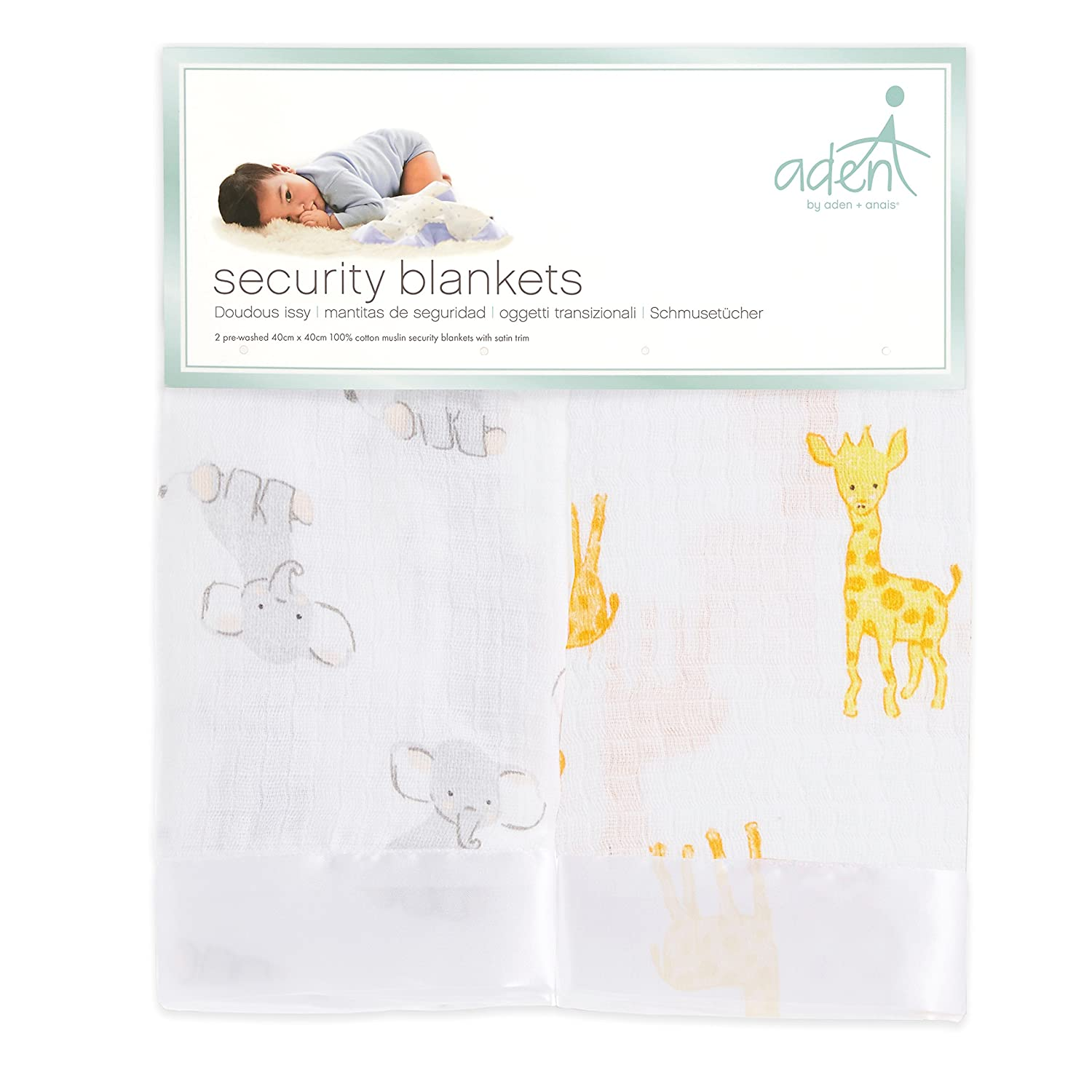 dapper 2 pack aden by aden 100/% cotton muslin anais issie security blanket