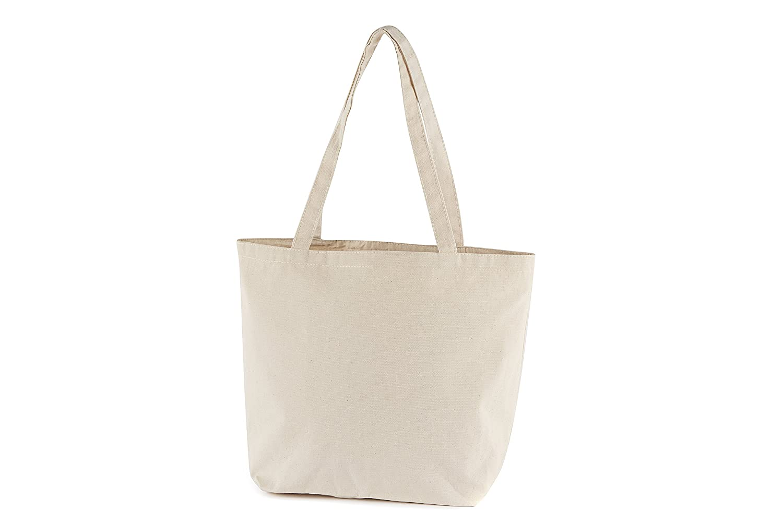 "Multi-Purpose Natural Toned Shopping/Beach Bag - 11""x13""x6"""