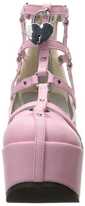 Demonia Cramps 110 Ankle Boot(Women's) -Black Vegan Leather Discounts fL9jYXu