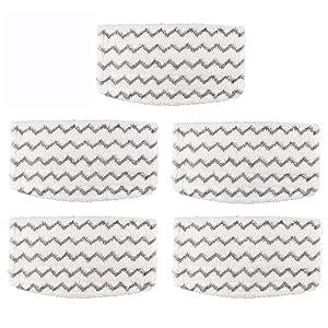 Aunifun 5 Packs Steam Mop Pads Replacement for Shark Steam Mop Hard Floor Cleaner S1000A Shark Vacuum Cleaner S1000A S1000C S1000WM S1001C