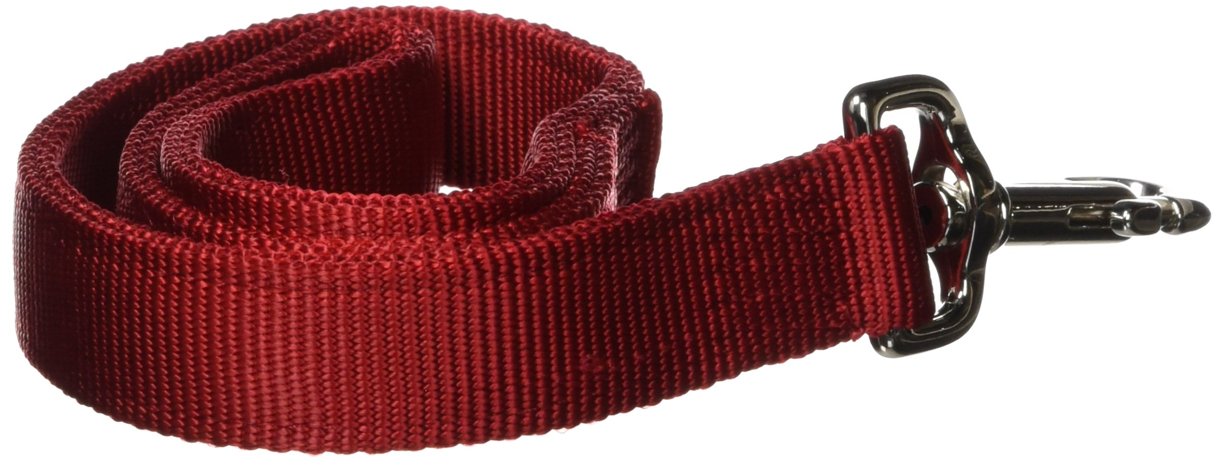 Hamilton Double Thick Nylon Dog Traffic Lead Total Length Including Loop Handle, 1-Inch by 2-Feet, Red