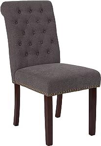 Flash Furniture Dark Gray Fabric Parsons Chair, 1 Pack
