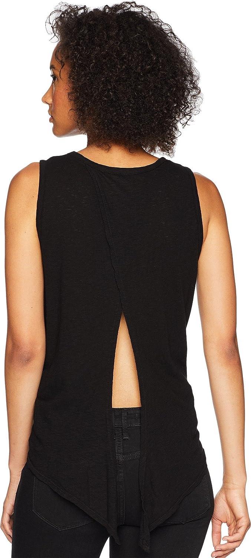Three Dots Womens Eco Knit Loose Short Tie Tank