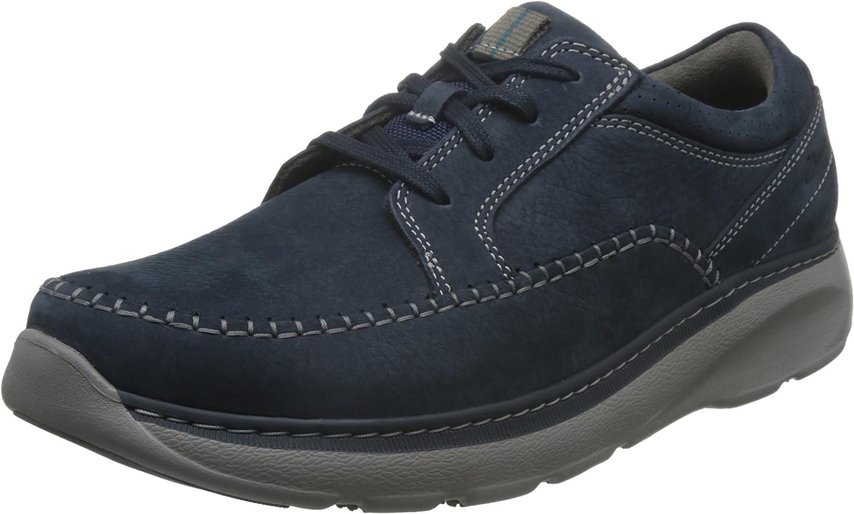 Clarks Casual Hombre Zapatos Charton Vibe En Nobuk Azul