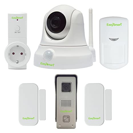 EasySmart Smart Home Security Kit de WiFi cámara IP/PIR/ – Videoportero inalámbrico/