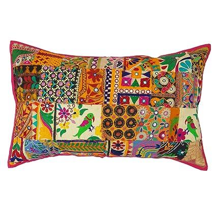 Amazon.com: Indian Cushion Cover Home Decor Throw Pillow ...