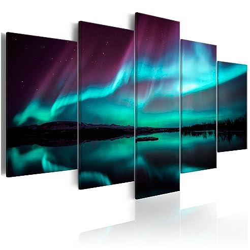 decomonkey | Bilder Polarlicht 200x100 cm 5 Teilig ...