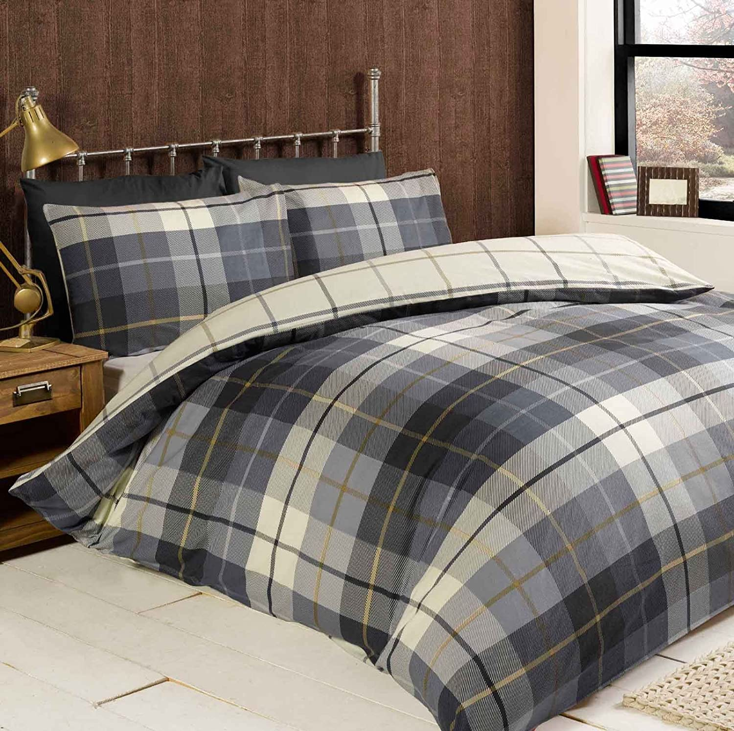 plaid info twin cover flannelette full yellow flannel comforter sale size bedding reg fashion rustic page kohphiphi duvet king by covers