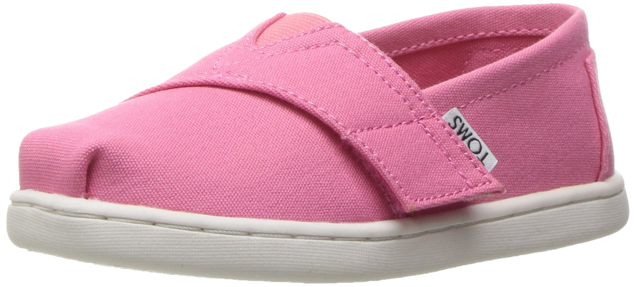 TOMS Girls' 10009918 Alpargata-K, Pink 4 M US Toddler