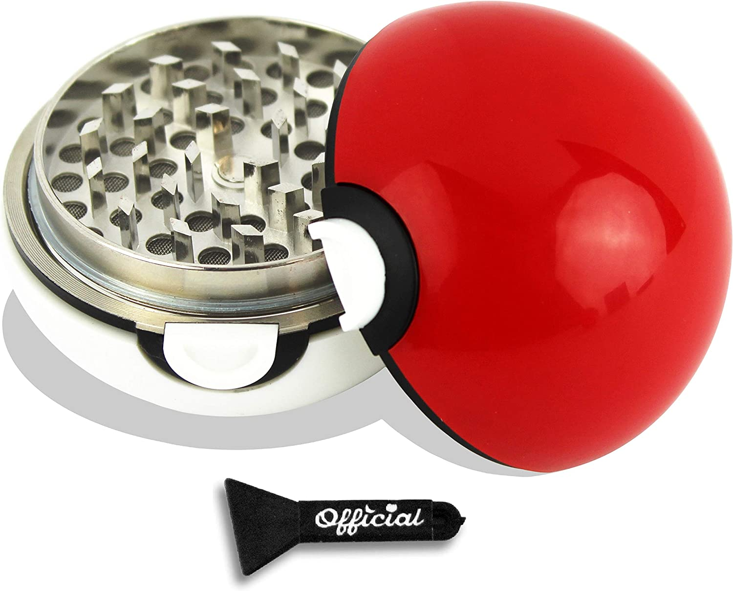 Official Pokeball Herb Grinder (Large) 2.7 Inches - With BONUS Scraper Tool - Cool Grinders For Herb & Spice With Catcher - 3 Part Grinder by Nestpark
