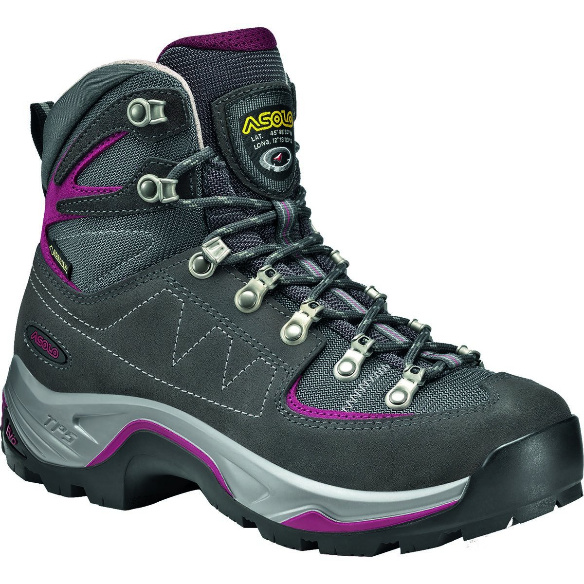 Asolo TPS Equalon GV Backpacking Boot - Women's B00WE3NWZ6 7 B(M) US|Graphite/Red Bud