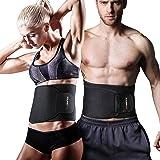 Youngdo Waist Trimmer Waist Trainer Belt [Upgraded Version] Fitness Ab Slimmer Belt for Weight Loss Belly Fat Burner for Men and Women