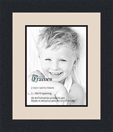 Amazon.com - 10x13 / 10 x 13 Picture Frame Satin Black .. 2\'\' wide ...