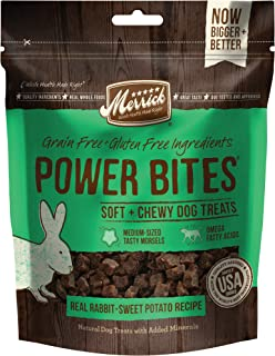 product image for Merrick Power Bites Natural Grain & Gluten Free, Soft & Chewy Chews Dog Treats