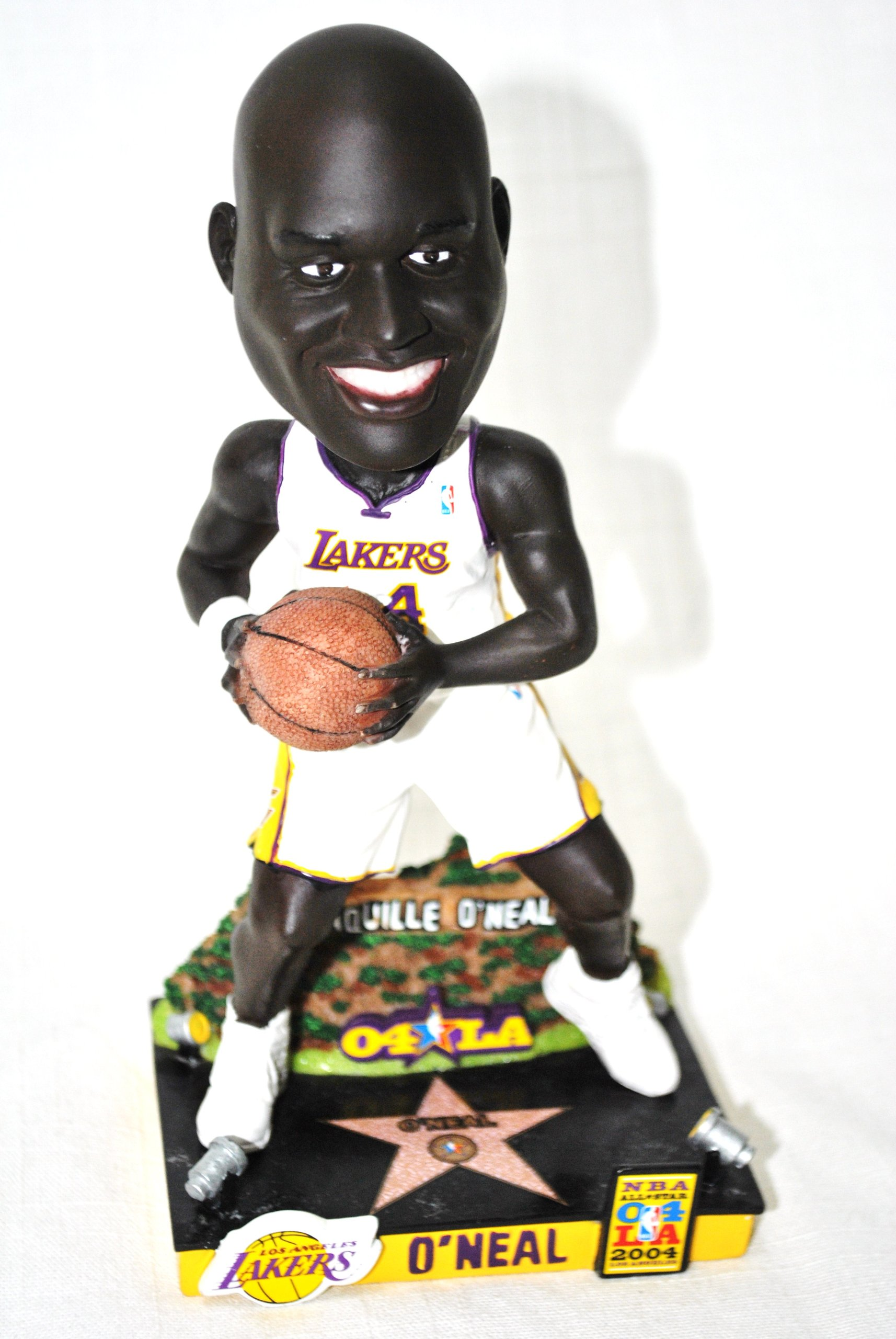 Limited Edition Shaq Oneal #34 LA LAKERS 03 all star game action Limited Edition Bobble head