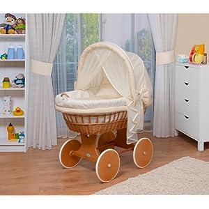 WALDIN Landau/berceau pour bébé avec équipement - 14 coloris disponibles