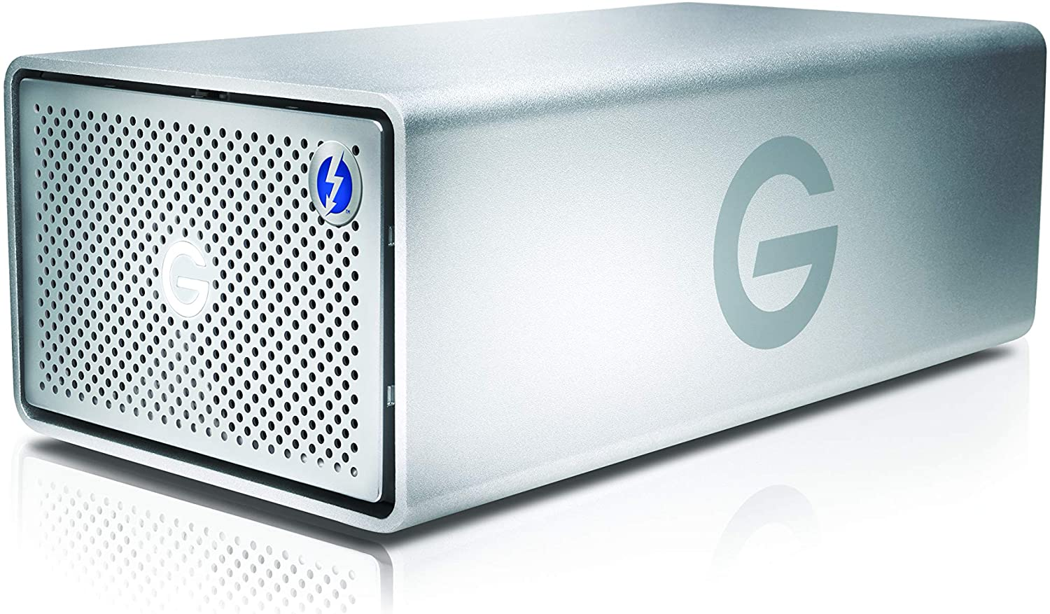 G-Technology 12TB G-RAID with Thunderbolt 3, USB-C (USB 3.1 Gen 2), and HDMI, Removable Dual Drive Storage System, Silver - 0G05753-1