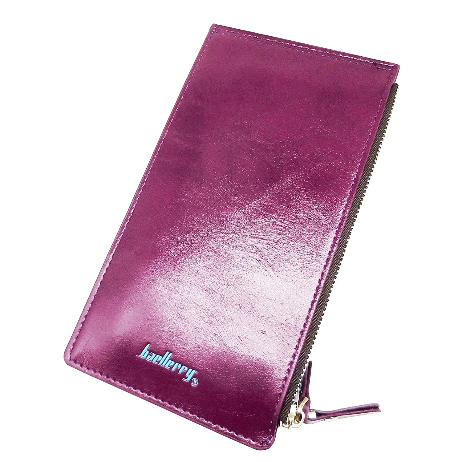 Card Holder Coin Purse Women's clutch wallet Oil Wax Leather Money Clip