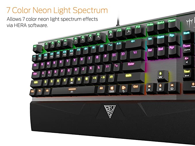 Amazon.com: GAMDIAS Hermes M1 7 Color Mechanical Keyboard Hera software Support with Blue Switch (Hermes M1): Computers & Accessories